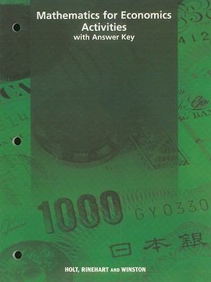 Mathematics for Economics Activities with Answer Key