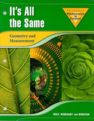 Mathematics in Context: It's All the Same: Geometry and Measurement