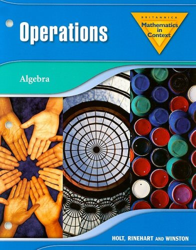Mathematics in Context: Operations: Algebra