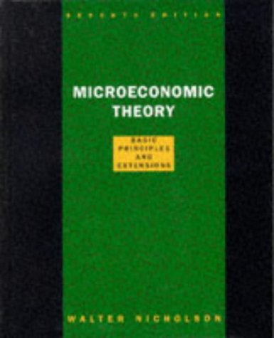 Microeconomic Theory 9780030244742