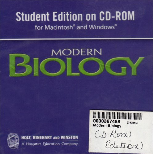 Modern Biology: Student Edition CD-ROM for Macintosh and Windows 2006