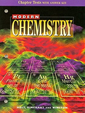 Modern Chemistry Chapter Tests with Answer Key