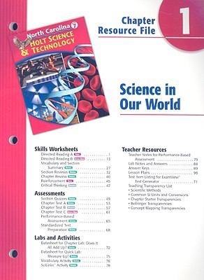 North Carolina Holt Science & Technology Chapter 1 Resource File: Science in Our World