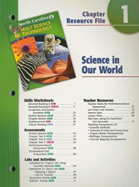 North Carolina Holt Science & Technology Chapter 1 Resource File: Science in Our World: Grade 6