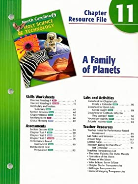 North Carolina Holt Science & Technology Chapter 11 Resource File: A Family of Planets: Grade 6