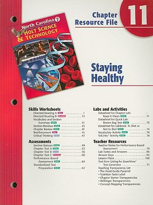 North Carolina Holt Science & Technology Chapter 11 Resource File: Staying Healthly: Grade 7
