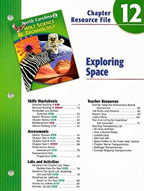 North Carolina Holt Science & Technology Chapter 12 Resource File: Exploring Space: Grade 6