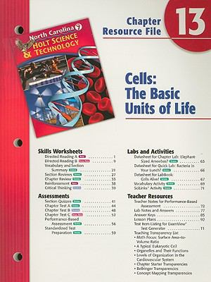 North Carolina Holt Science & Technology Chapter 13 Resource File: Cells: The Basic Units of Life: Grade 7