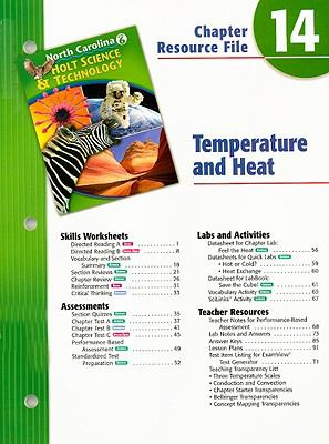 North Carolina Holt Science & Technology Chapter 14 Resource File: Temperature and Heat: Grade 6
