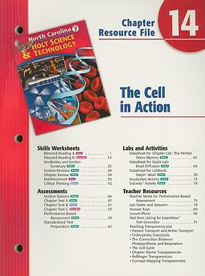 North Carolina Holt Science & Technology Chapter 14 Resource File: The Cell in Action: Grade 7