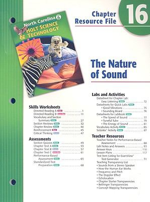 North Carolina Holt Science & Technology Chapter 16 Resource File: The Nature of Sound