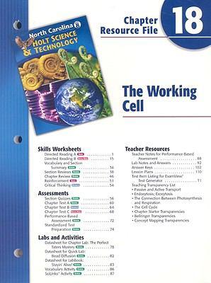 North Carolina Holt Science & Technology Chapter 18 Resource File