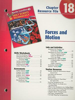 North Carolina Holt Science & Technology Chapter 18 Resource File: Forces and Motion: Grade 7