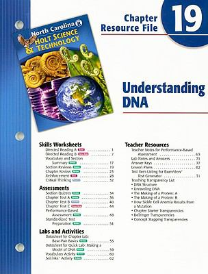 North Carolina Holt Science & Technology Chapter 19 Resource File: Understanding DNA
