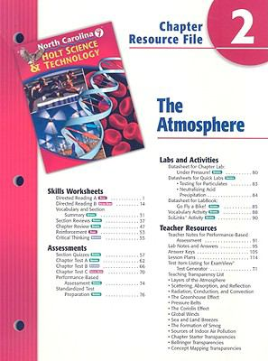 North Carolina Holt Science & Technology Chapter 2 Resource File: The Atmosphere