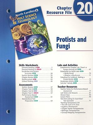 North Carolina Holt Science & Technology Chapter 20 Resource File: Protists and Fungi
