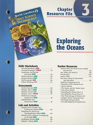 North Carolina Holt Science & Technology Chapter 3 Resource File: Exploring the Oceans: Grade 8