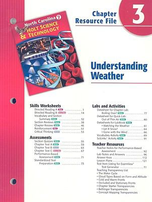 North Carolina Holt Science & Technology Chapter 3 Resource File: Understanding Weather