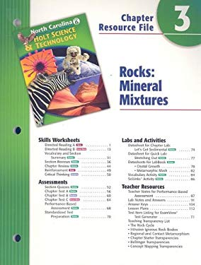 North Carolina Holt Science & Technology Chapter 3 Resource File: Rocks: Mineral Mixtures