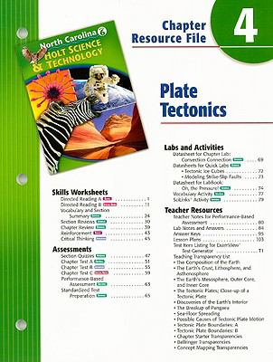 North Carolina Holt Science & Technology Chapter 4 Resource File: Plate Tectonics: Grade 6