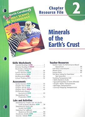 North Carolina Holt Science & Technology Chapter 6 Resource File: Minerals of the Earth's Crust