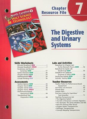 North Carolina Holt Science & Technology Chapter 7 Resource File: The Digestive and Urinary Systems: Grade 7