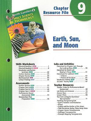 North Carolina Holt Science & Technology Chapter 9 Resource File: Earth, Sun, and Moon: Grade 6