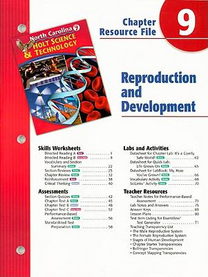 North Carolina Holt Science & Technology Chapter 9 Resource File: Reproductive and Development: Grade 7