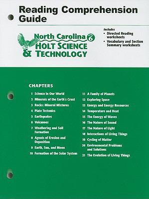 North Carolina Holt Science & Technology Grade 6 Reading Comprehension Guide