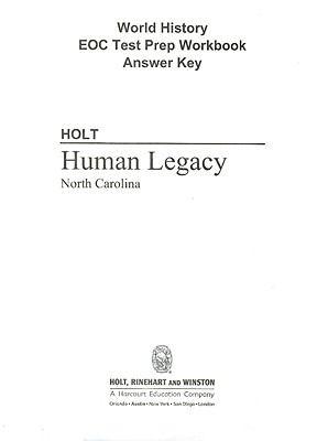 North Carolina Holt World History: Human Legacy EOC Test Prep Workbook Answer Key