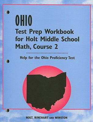 Ohio Test Prep Workbook for Holt Middle School Math, Course 2