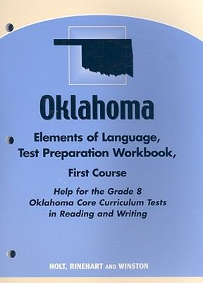 Oklahoma Elements of Language Test Preparation Workbook, Grade 8: First Course