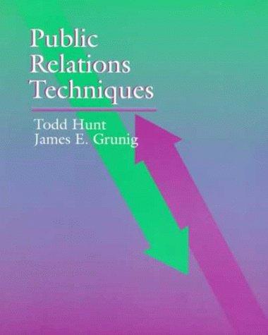 Public Relations Techniques