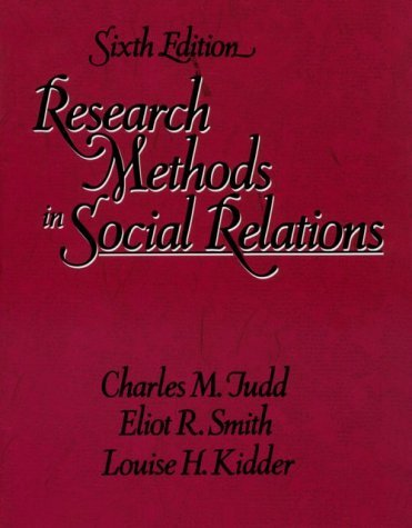 Research Methods in Social Relations 9780030311499