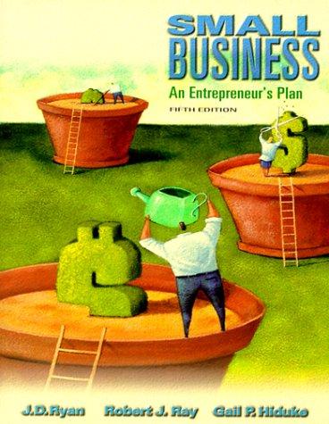 Small Business: An Entrepreneur's Plan