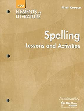 Spelling Lessons and Activities, First Course