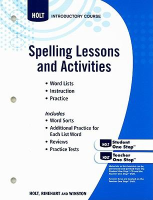 Spelling Lessons and Actvities, Introductory Course