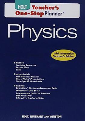 Tchr One-Stop DVD Holt Physics 2009