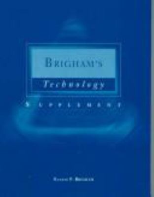 Technology Supplement for Brigham's Financial Management: Theory & Practice, 9th