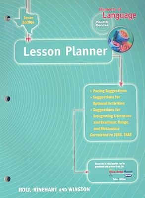 Texas Elements of Language: Lesson Planner: Fourth Course