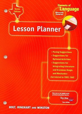 Texas Elements of Language Lesson Planner, Second Course