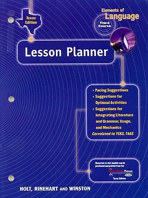Texas Elements of Language Lesson Planner, Third Course