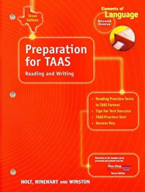 Texas Elements of Language Preparation for Taas: Reading and Writing, Second Course