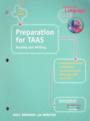 texas elements of language: preparation for taas, reading and writing: Fourth Course