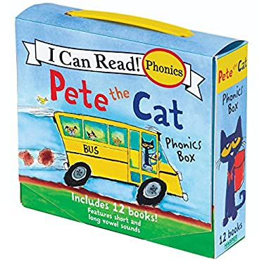 Pete the Cat Phonics Box: Includes 12 Mini-Books Featuring Short and Long Vowel Sounds (My First I Can Read)