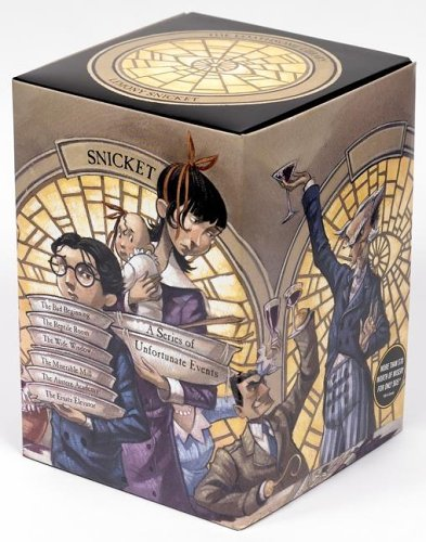 A Series of Unfortunate Events Box: The Loathsome Library (Books 1-6)