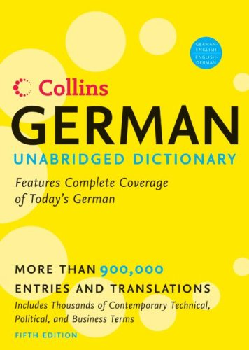 Collins German-English English-German Dictionary 9780060733810