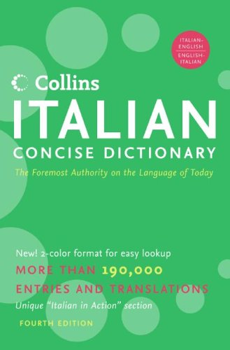 Collins Italian Concise Dictionary, 4e 9780060787325