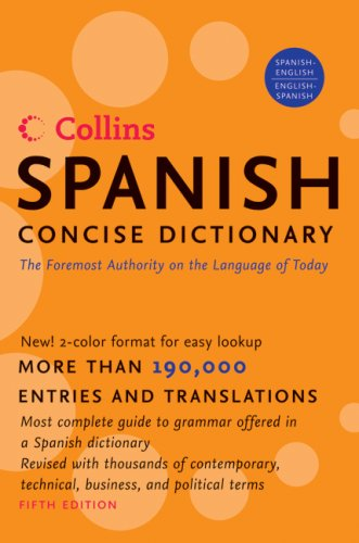 Collins Spanish Concise Dictionary: Spanish-English/English-Spanish 9780061141843