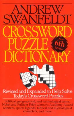 Crossword Puzzle Dictionary: Sixth Edition 9780062720535